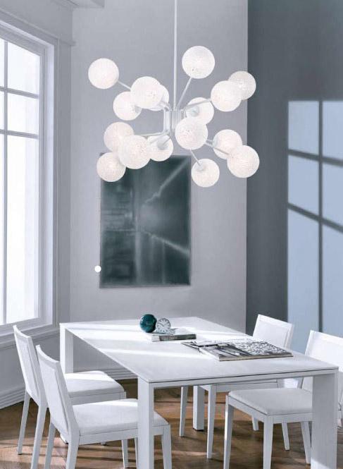 glace, à la fois lampe, lampadaire, applique, plafonnier, suspension ...